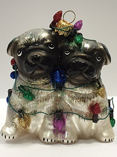 Ornaments to Remember: PUGS (Christmas Lights) Christmas Ornament