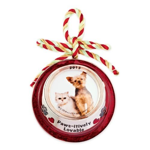 Carlton Heirloom Ornament 2013 Pet is Love – Food Bowl Photo Holder – #CXOR026D