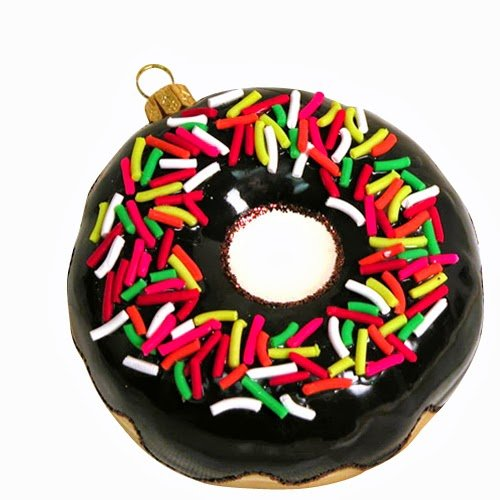 Ornaments to Remember: DONUT Christmas Ornament (Chocolate w/ Sprinkles)