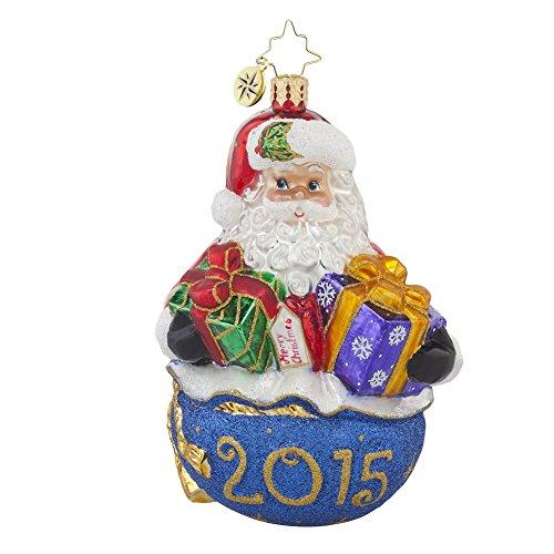 Christopher Radko 2015 Poppin' up for Presents Santa Christmas Ornament