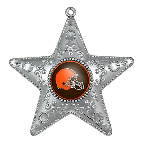 Cleveland Browns 4.5″ Silver Star Ornament