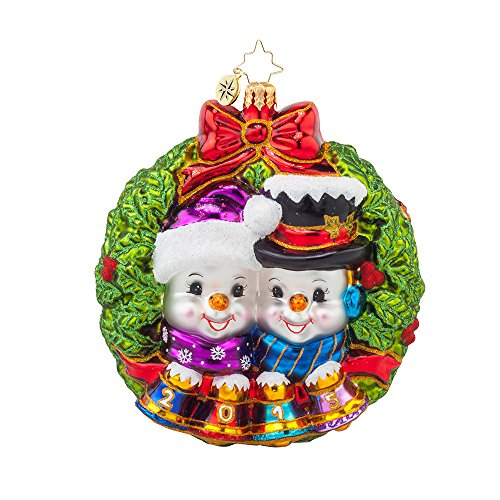 Christopher Radko Perfect Couple 2015 Dated Christmas Ornament