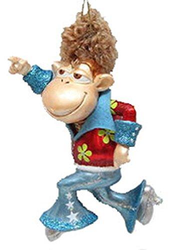 December Diamonds Blown Glass Ornament Dancing Monkey