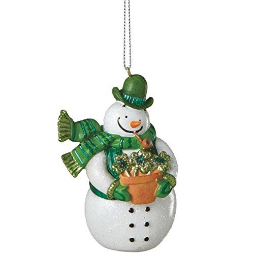 Irish Celtic Snowman Christmas Tree Ornament
