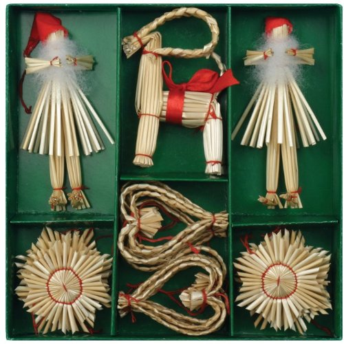 Christmas Straw Ornaments – Set of 21 pieces