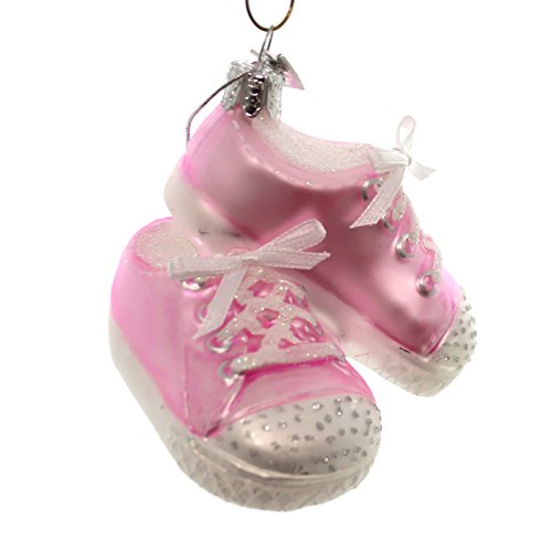 Noble Gems BABY SNEAKERS Glass Glass Christmas Ornament Nb0543 Pink