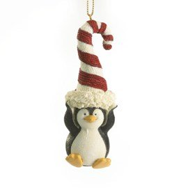 Enesco Boyds Resin Candyland Penguin Holiday Ornament