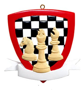 Personalized Sports Chess Christmas Holiday Gift Expertly Handwritten Ornament
