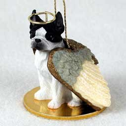 Boston Terrier Angel Dog Ornament