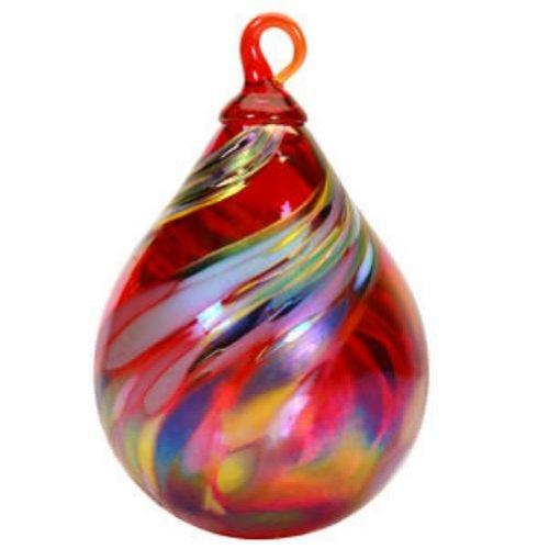 Glass Eye Studio Ornament Raindrop Holiday Swirl