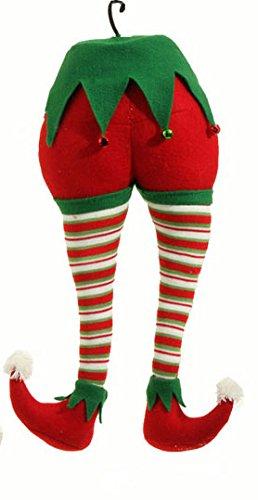 RAZ 20″ Elf Butt – Red, White & Green Legs – Christmas Tree Elf