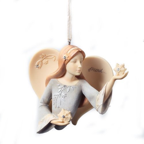 Enesco Foundations Friend Angel Ornament, 3-Inch