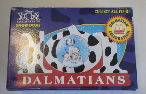 Vintage Mcdonalds Disney 101 Dalmations Snowglobe Ornament