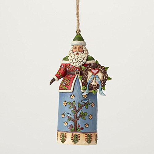 Enesco Jim Shore Wlmsbrg Santa with Wreath Ornament