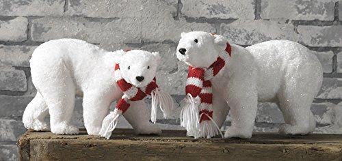 Christmas White Polar Bear – Set of 2