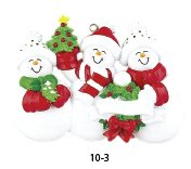 Snow Family/3 Personalized Ornament