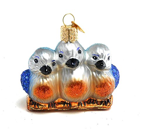 Old World Christmas Ornament Feathered Friends Blue Bird