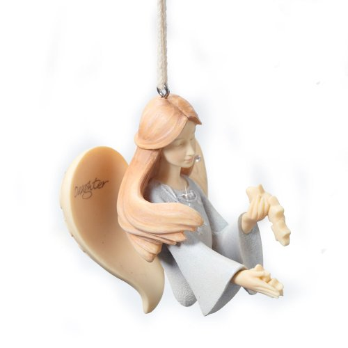 Enesco Foundations Daughter Angel Ornament, 2.95-Inch