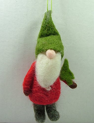 Garden Gnome Lawn Dwarf w/ Tree Christmas Ornament One Hundred 80 Degrees