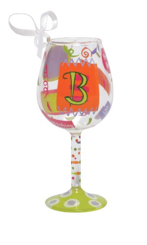 Lolita Hand Painted Mini Wine Ornament, Letter B