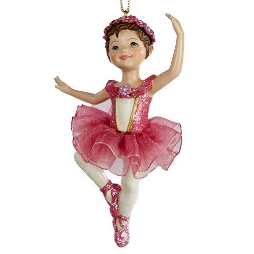 Ballerina Ballet Girl Ornament Dark Pink C8339-A Christmas Ornament Kurt Adler