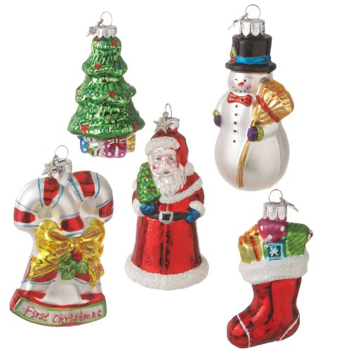 MidWest CBK First Christmas Holiday – Boxed Set of 5 Ornaments