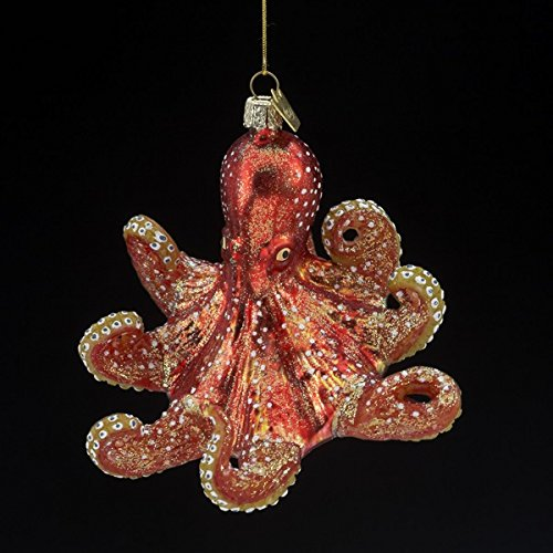 Kurt Adler Noble Gems Glass Octopus Ornament
