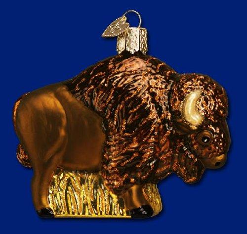 Old World Christmas Buffalo Bison Glass Ornament #12131