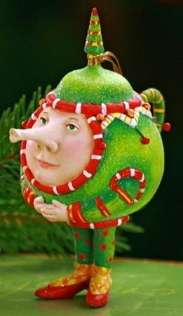 Patience Brewster Krinkles **Teapot Ornament** 09-30265