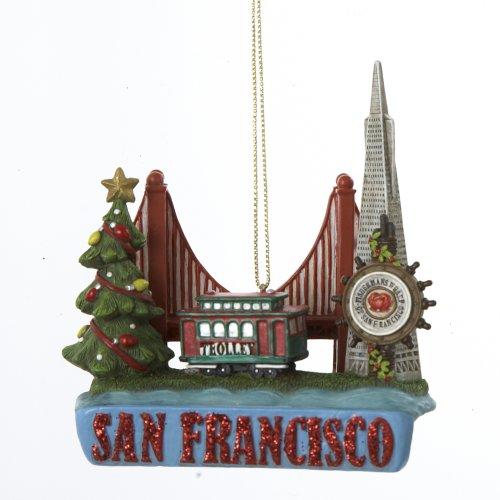Kurt Adler City Travel San Francisco Ornament, 3.25-Inch