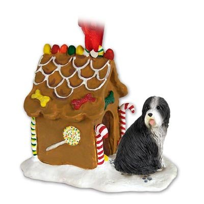 Bearded Collie Gingerbread House Ornament