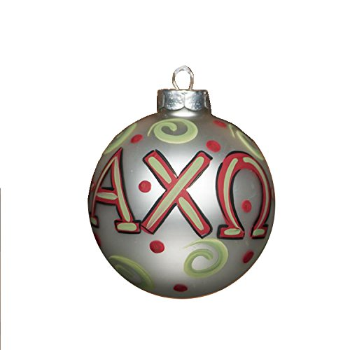 Glory Haus Alpha Chi Omega Glass Ornament, 4-Inch