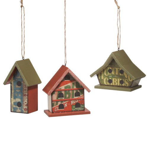 Midwest CBK Birdhouse Christmas Ornaments Set of 3