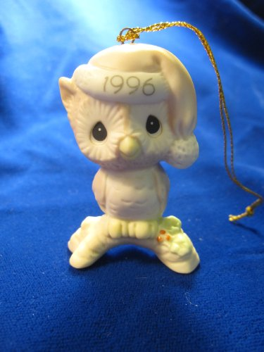 Owl Be Home For Christmas Dated 1996 Precious Moments Ornament #128708