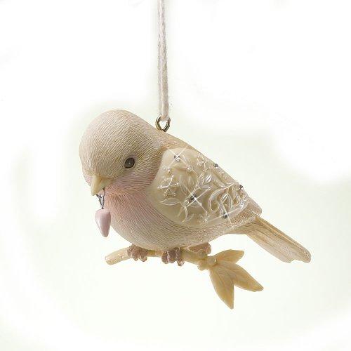 Enesco Foundations Love Bird with Heart Ornament, 3.25-Inch