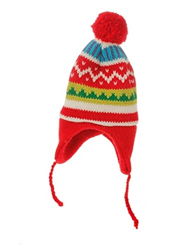 8.75″ Merry & Bright Nordic Red Knit Ear Flap Winter Hat Christmas Ornament