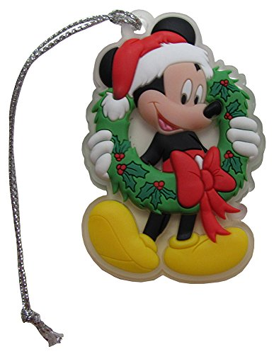 Disney Classic Mickey Mouse w/ Wreath Hanging Christmas Tree Ornament