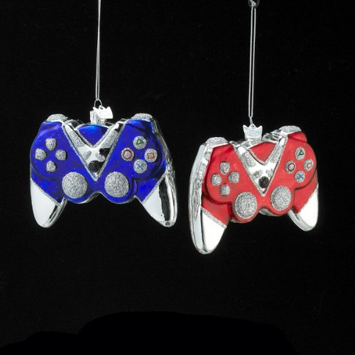 Noble Gems Glass Game Controller Ornament Set Of 2