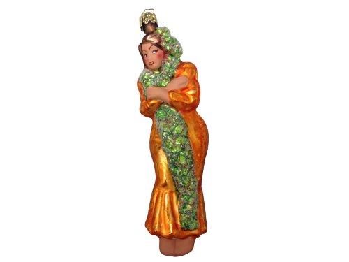 Ornaments to Remember: HULA GIRL Christmas Ornament (Orange)