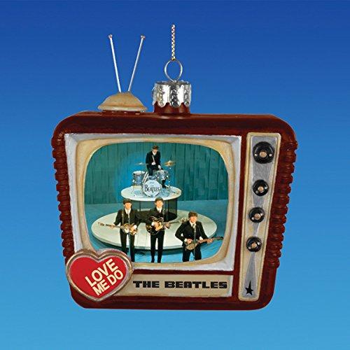 Kurt Adler Beatles Love Me Do TV Glass Ornament