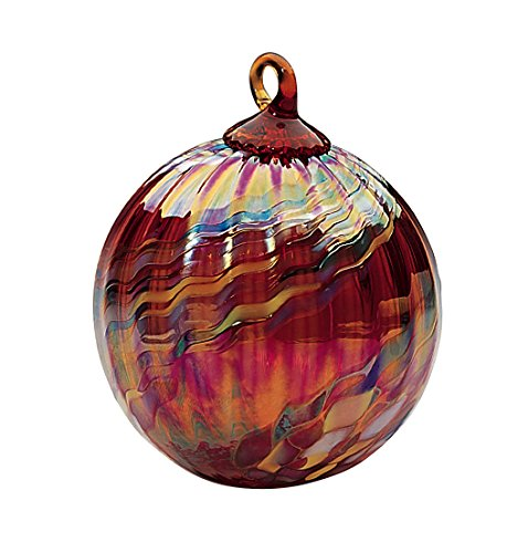 Glass Holiday Swirl Globe Ornament