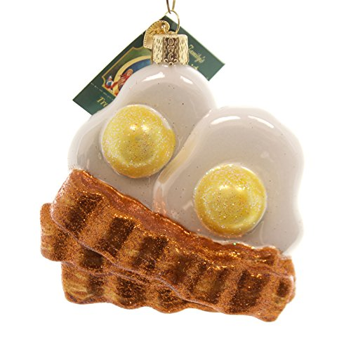 Old World Christmas Bacon and Eggs Ornament