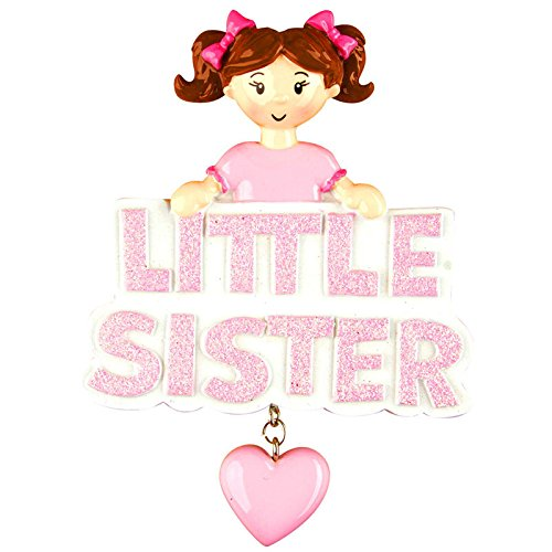 Little Sister Personalized Christmas Tree Ornament