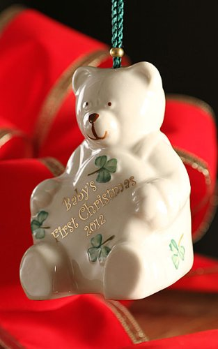 Belleek 4044 Baby's 1st Christmas 2012 Ornament