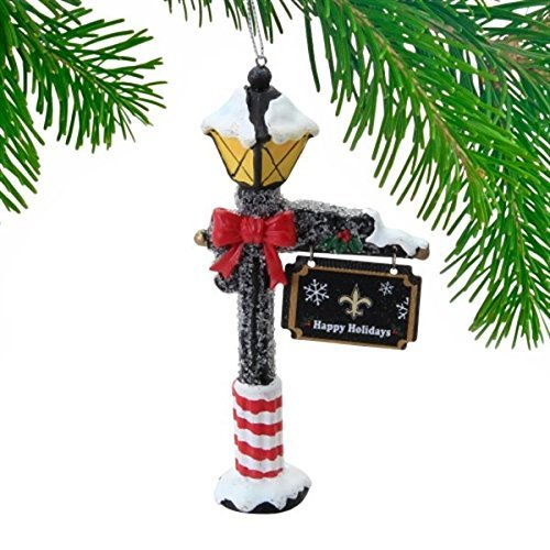 2014 NFL Street Lamp Christmas Tree Ornament – Pick Team (New Orleans Saints)