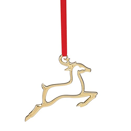 Lenox Reindeer Silhouette Ornament, Gold