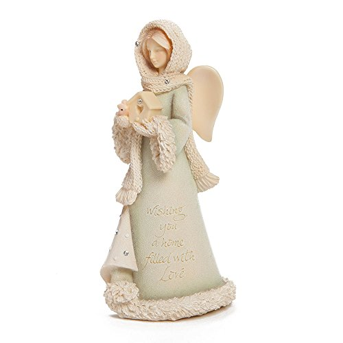 Enesco Foundations Gift Ornament Wishes 4.53-Inch Angel Figurine, Mini