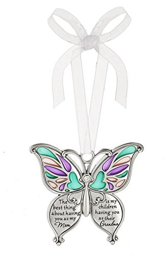 Ganz Butterfly Wishes Colored Ornament – The best thing about having you as my Mom is my children having you as their Grandma