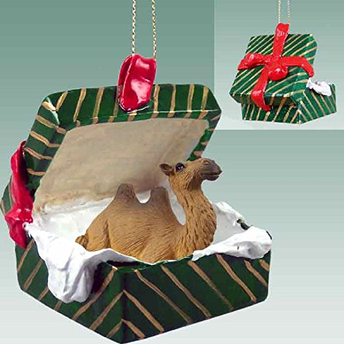 Camel Bactrian Gift Box Green Ornament