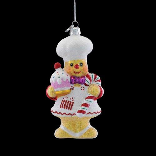 Kurt Adler Noble Gems Collection Glass Gingerbread Chef Christmas Ornament